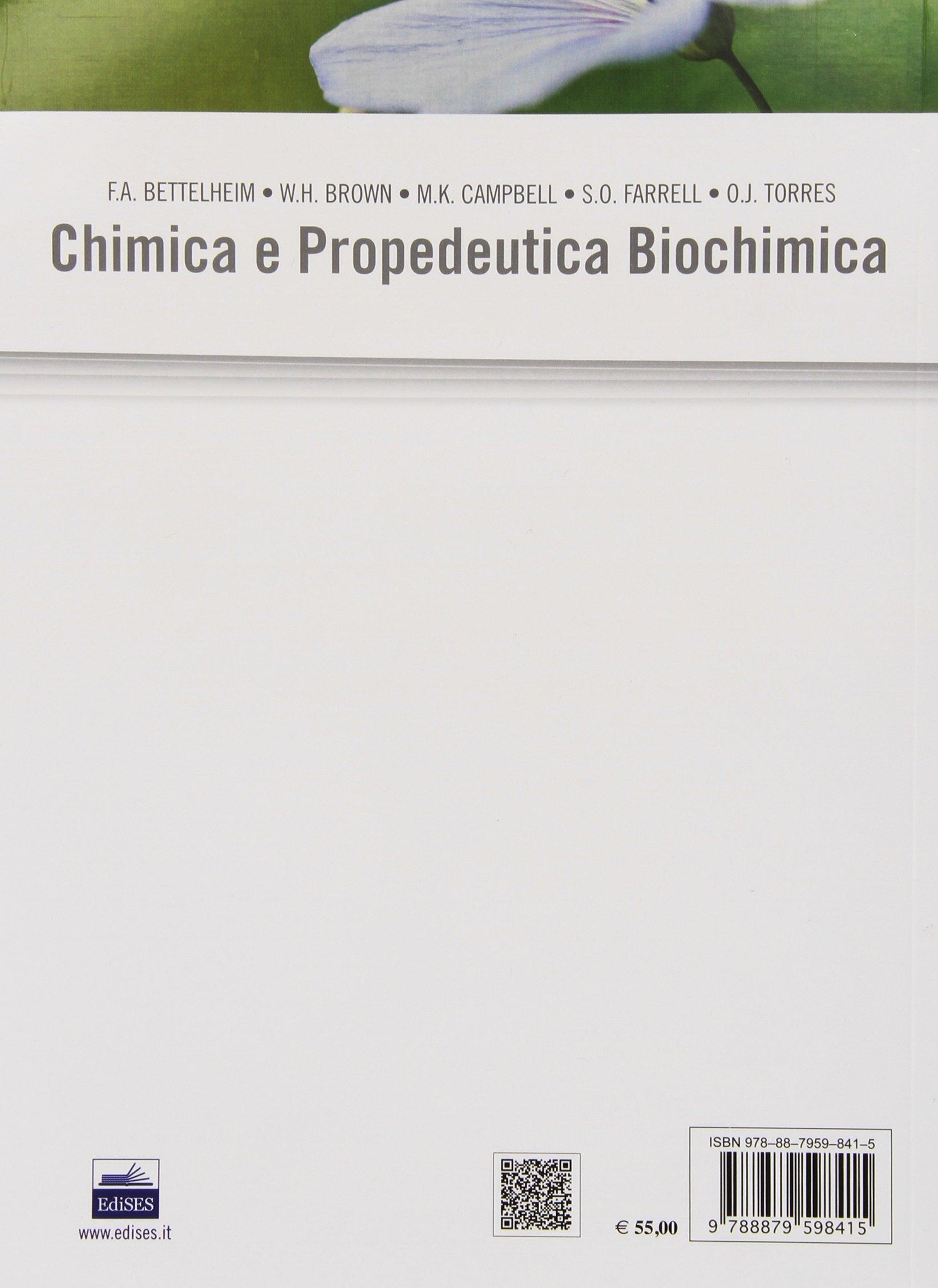 Chimica E Propedeutica Biochimica Bettelheim Pdf