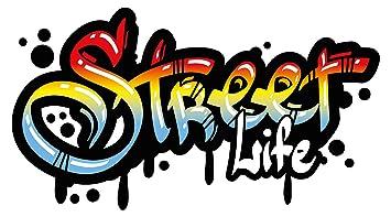 Wandtattoo Jugendzimmer Street Life Im Graffiti Style Schriftzug