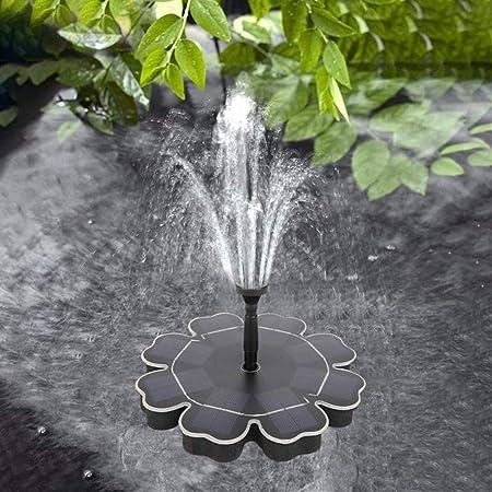 Bomba Agua Panel Energía Solar 1.6W Solar Bombas para Fuentes, Bomba de Agua Solar Monocristalino Bomba Agua con 4 boquillas Para estanques pequeños, piscinas, acuarios, baños de aves, jardines,180L/H: Amazon.es: Hogar