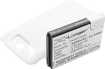 BATERÍA extendida LI-Ion 6200mAh Blanca para Samsung Galaxy Note 2 ...