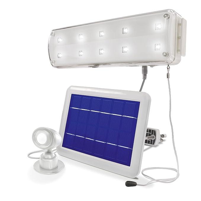 esotec 102091 Solar Beleuchtungsset mit Bewegungsmelder Solarlampe Wandleuchte