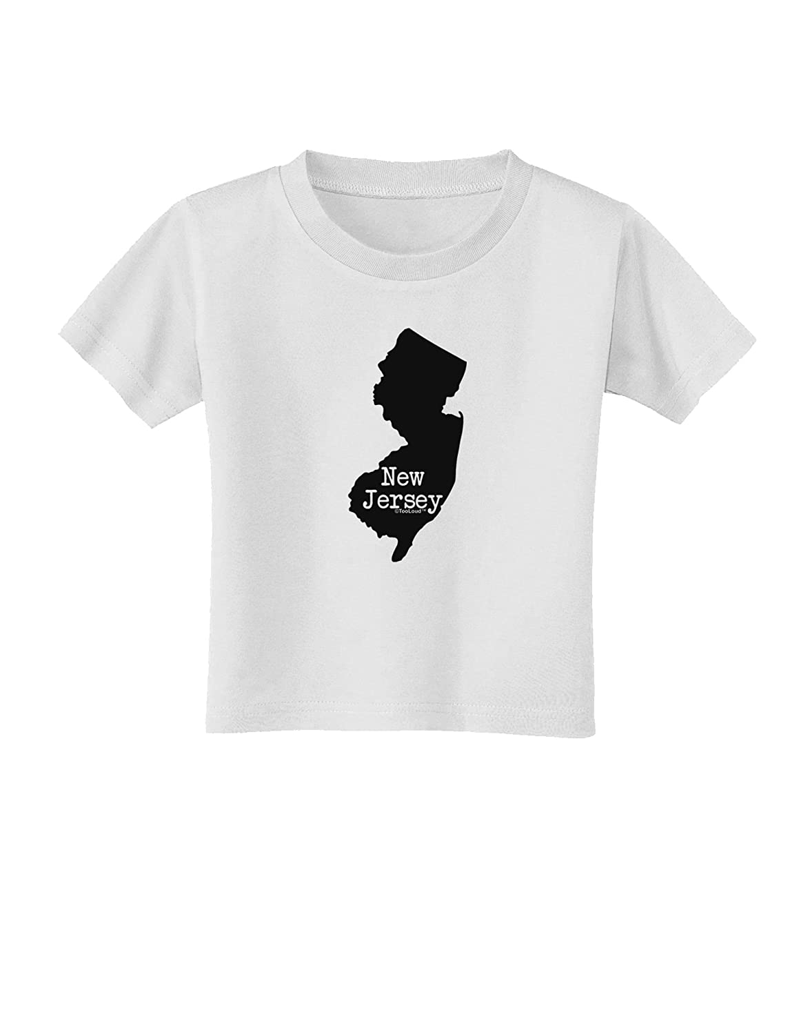 United States Shape Toddler T-Shirt TooLoud New Jersey