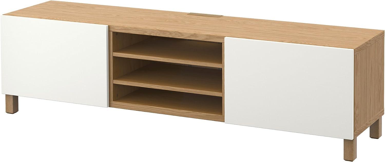 IKEA BESTA - Mueble TV con efectos cajones de roble / blanco ...