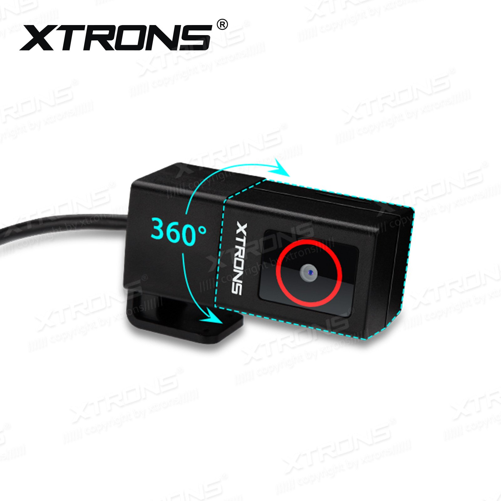 XTRONS 360° Rotatable Lens Car DVR Dash USB Mini Recorder Night Vision
