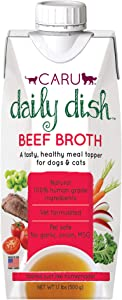 CARU Daily Dish Beef Broth Meal Topper for Dogs and Cats - 1.1 lbs.