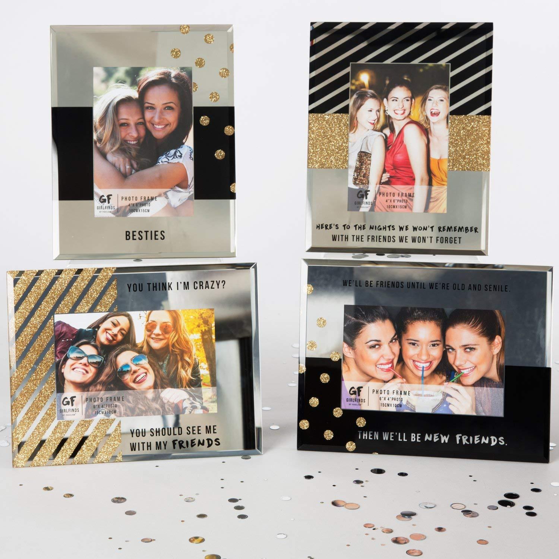 7 x 9 Pavilion Gift Company 75101 Besties Mirrored Photo Frame