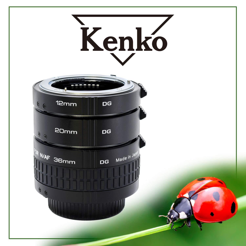 Kenko Extension Tube Set DG Nikon Spacer Ring Set-Black 36mm by Kenko