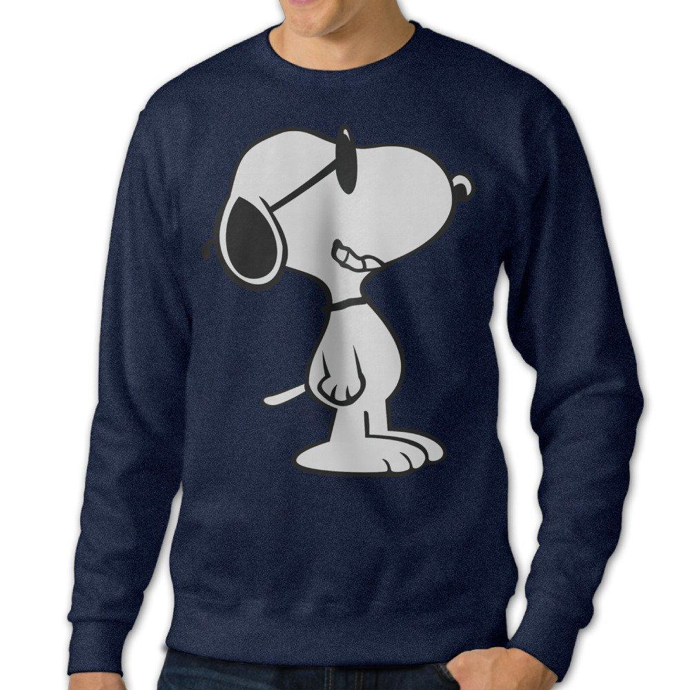 Peanuts Snoopy Sleeping Mens Cool Hooded Navy
