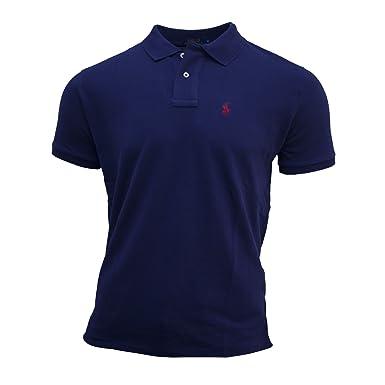 Polo Ralph Lauren Herren Poloshirt Custom Fit Größe S-XXL (M, Navy ... ec15422b86