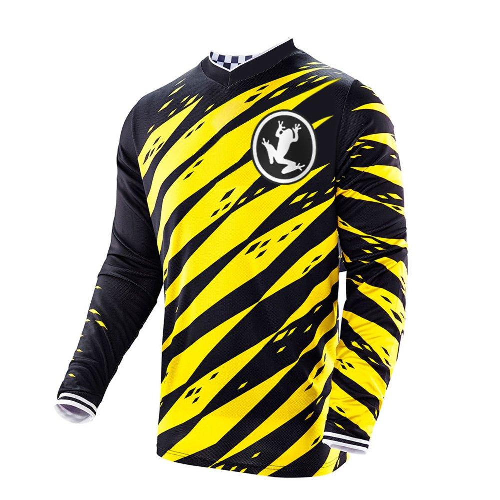 79bc0803515e1 Uglyfrog 2018-2019 Sport Cycling Element MX Jersey Enduro Cross Motorrad  Motocross/MTB/Mountain Bike Wear Downhill Rundhals Shirt Herren Langarm ...