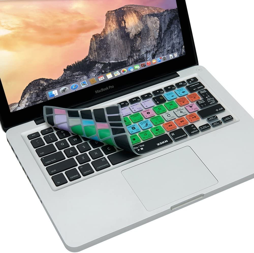 US /& EU Layout XSKN for Apple Logic Pro X 10 Shortcut Design Silicone Keyboard Skin Cover for Macbook 13 15 17 inch