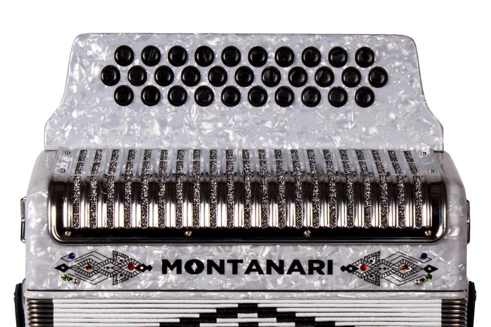 Montanari 3112 G Acordeon FA Blanco Accordion FBE by Montanari (Image #3)