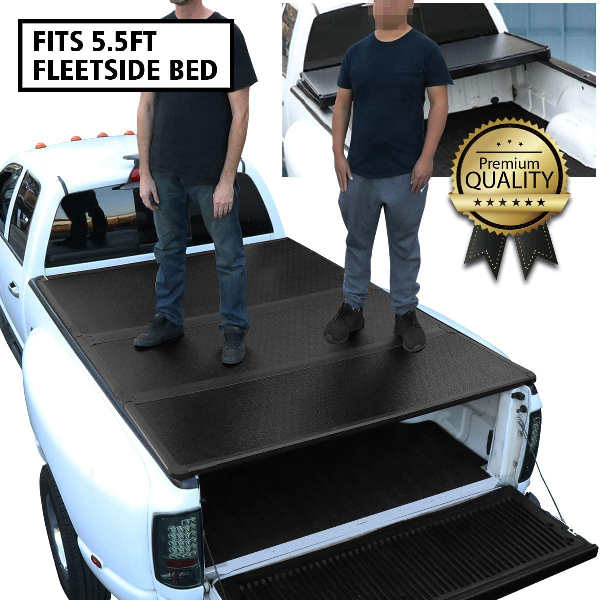 DNA Motoring Hard Tri-Fold Tonneau Cover