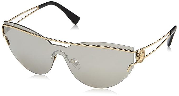 Versace 0Ve2186 Gafas de sol, Ojos de gato, 59, Pale Gold ...