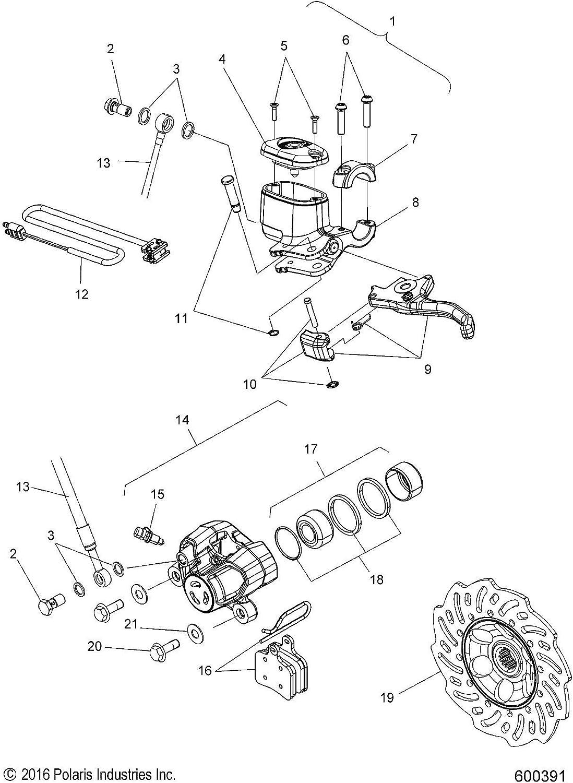 Qty 1 Genuine OEM Part 4012981 Polaris Brake Pressure Switch