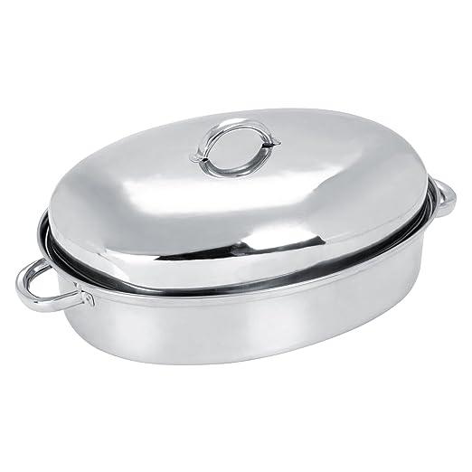 SQ Professional acero inoxidable fuente para horno ovalada con ...