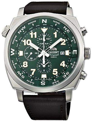 Orient Sporty - Reloj cronógrafo 100 M Piloto Verde tt17004 F: Amazon.es: Relojes