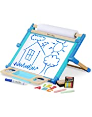 Melissa & Doug Deluxe Double-Sided Tabletop Easel, Arts & Crafts, Sturdy Wooden Construction, 42 Pieces, 44.45 cm H x 52.705 cm W x 6.985 cm L