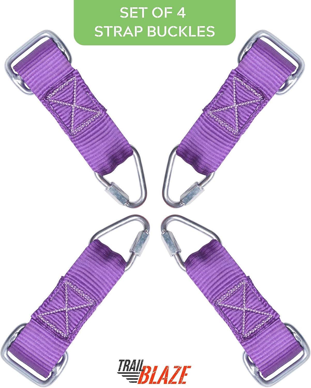 Trailblaze Ninja Warrior Slackline Hanging Obstacle Course for Kids (Set of 4 Buckle Straps)