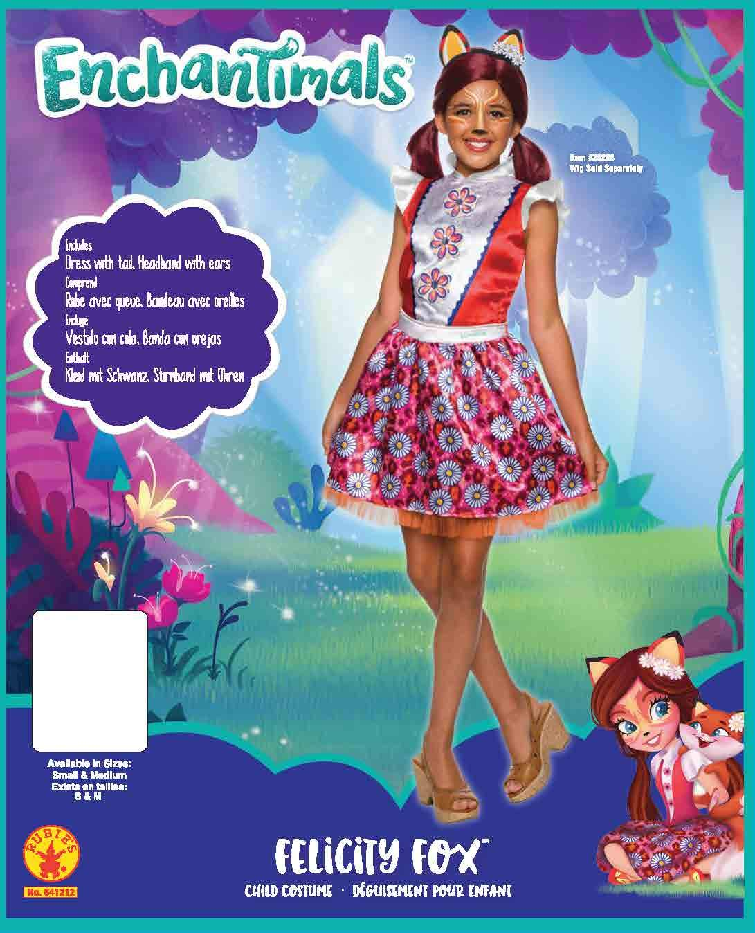 Enchantimals - Disfraz de Felicity Fox para niña, Talla 5-7 años (Rubies 641212-M): Amazon.es: Juguetes y juegos