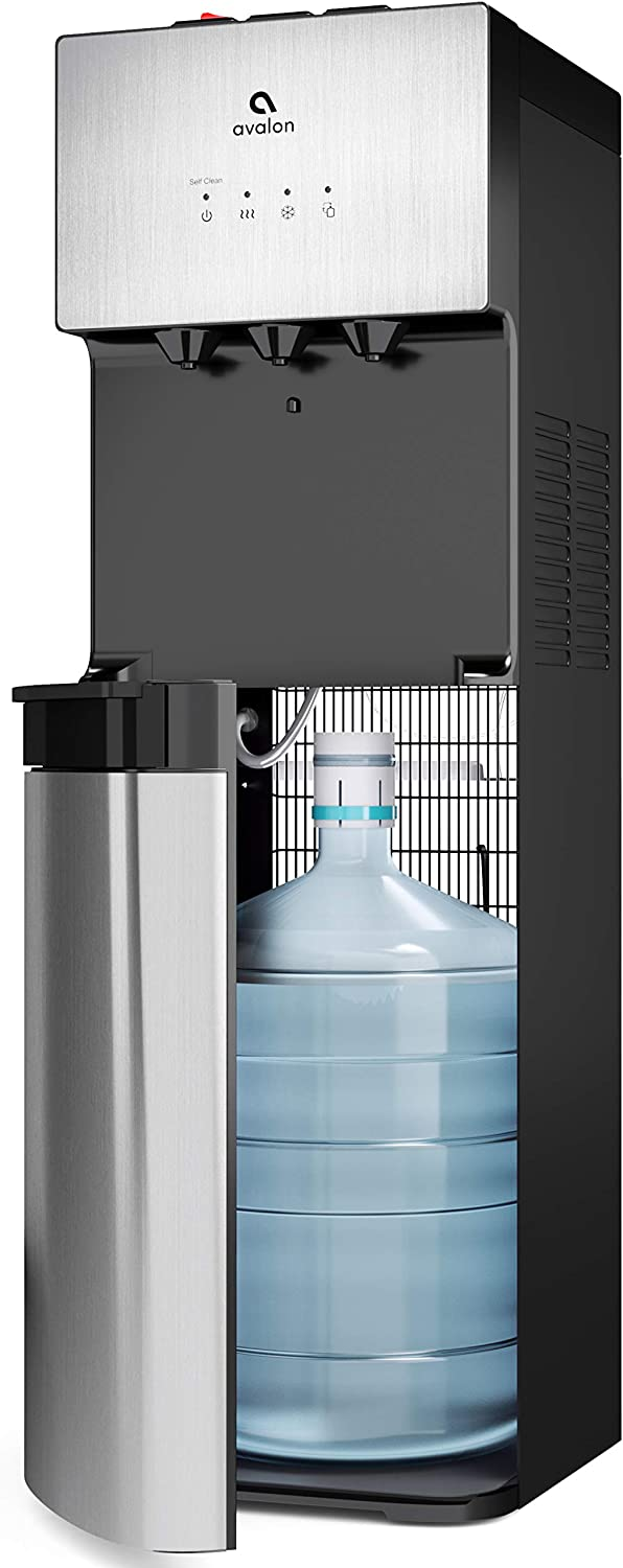 Avalon Limited Edition Self Cleaning Water Cooler Dispenser, 3 Temperature Settings - Hot, Cold & Cool Water, Durable Stainless Steel Construction, Bottom Loading - UL/Energy Star Approved: Appliances