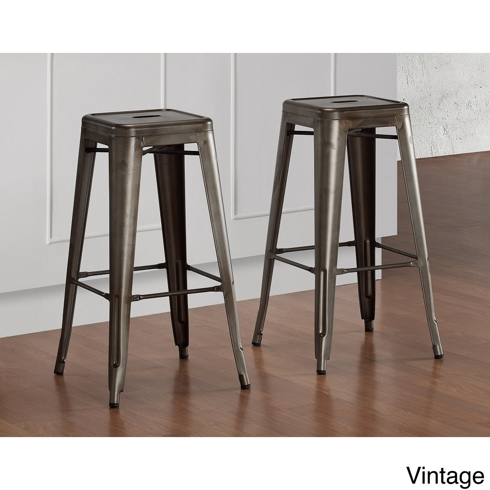 Amazon.com Tabouret Vintage Bronze 30-inch Bar Stools 9283182 (Set of 2). Kitchen u0026 Dining  sc 1 st  Amazon.com : vintage metal bar stools - islam-shia.org