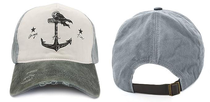 Glamorstar Pirate Ship Anchor Baseball Hat Printing Adjustable Hip-Hop Cap  Black Grey at Amazon Women s Clothing store  8d2a79c02df5