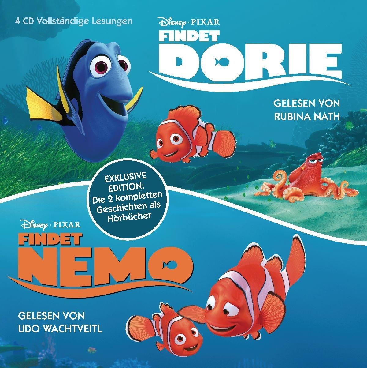 Findet Nemo   Findet Dorie  Exklusive Edition  Die Zwei Kompletten Geschichten Als Hörbücher