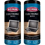 Weiman Electronic Wipes - Non Toxic Safely Clean Your Laptop, Computer, TV, Phone, and Tablet Screens - All Electronic Equipm
