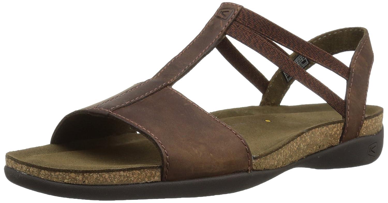 KEEN Women's Ana Cortez T Strap-W Flat Sandal B071YDVCL5 7.5 B(M) US|Brisk/Espresso