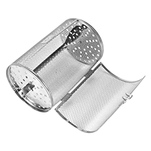 Stainless Steel Rotisserie Grill Roaster Drum Oven Basket Bakeware Oven Roast Baking Rotary Nuts Beans Peanut Basket BBQ Grill 12x18cm