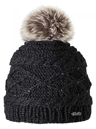 3bb6d2675b Barts-Bonnet Noir à Pompon Imitation Fourrure Enfant Fille 3 au 10 Ans