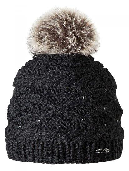 c8c4647d17f Barts-Bonnet Noir à Pompon Imitation Fourrure Enfant Fille 3 au 10 Ans   Amazon.fr  Vêtements et accessoires
