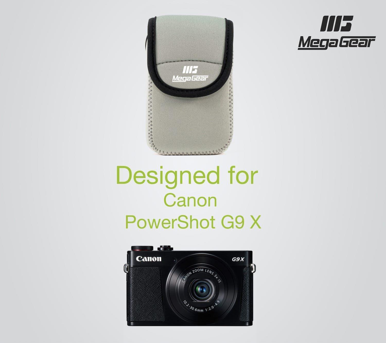 MegaGear Estuche de c/ámara Ultra Ligero de Neopreno Compatible con Canon PowerShot G9 X Mark II G9 X