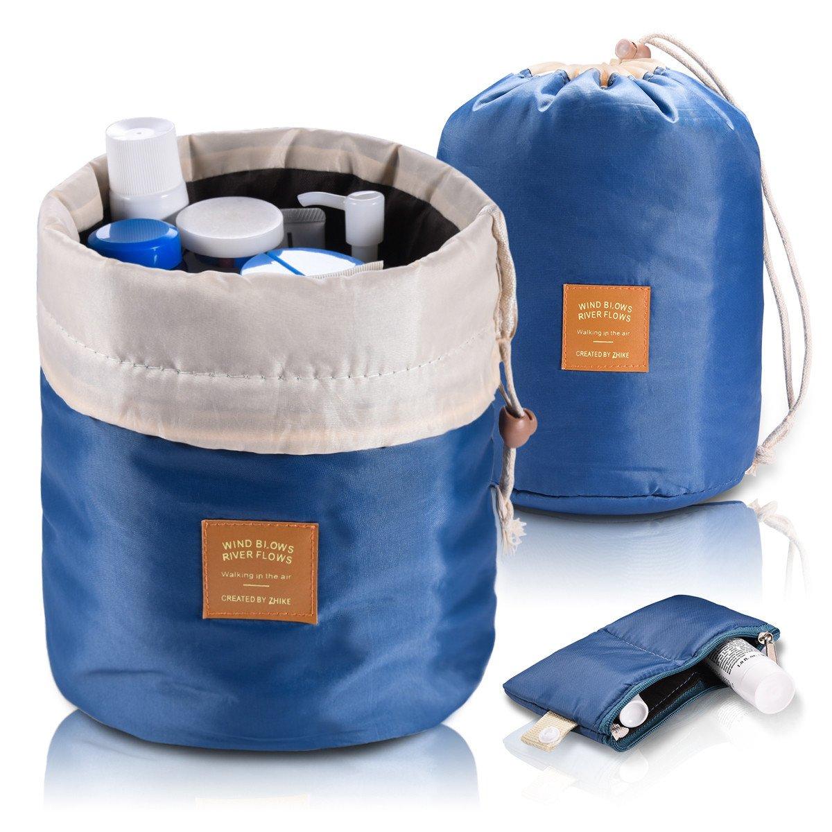 Amazoncom Foldable Round Bucket Style Travel Makeup Bag Small