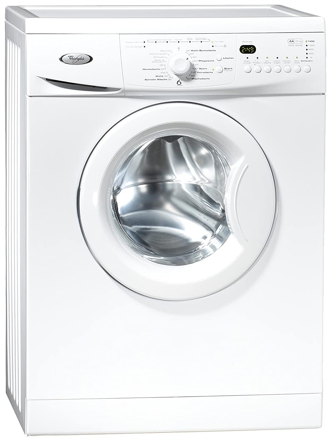 Whirlpool AWO 5446 Independiente Carga frontal 5kg 1400RPM A+ ...