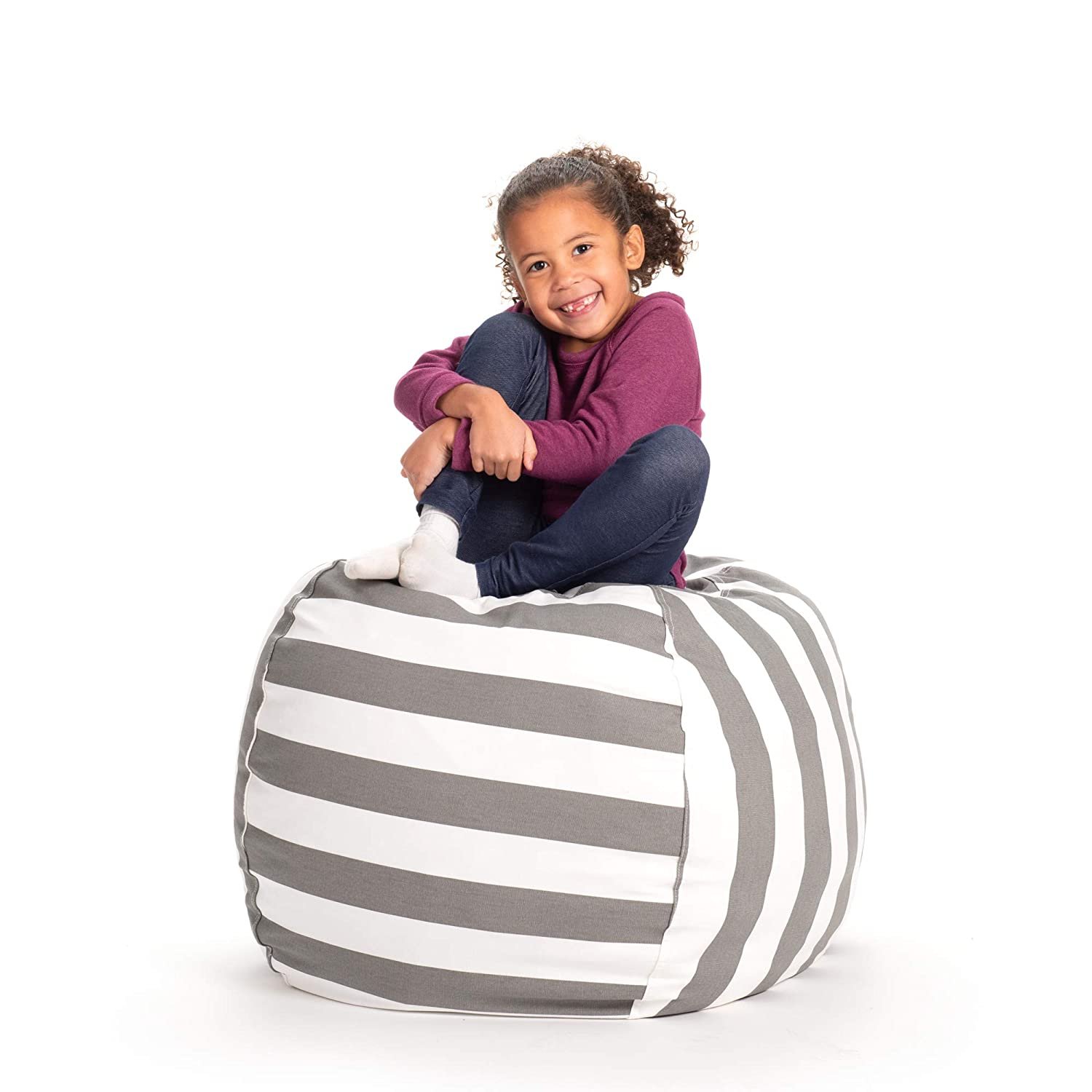Creative QT Stuffed Animal Storage Bean Bag Chair - Large Stuff 'n Sit Organization for Kids Toy Storage - Available in a Variety of Sizes and Colors (33