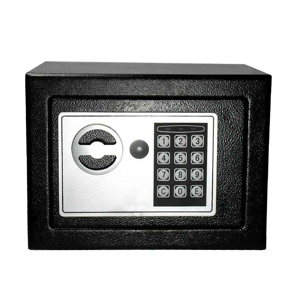 Digital Electronic Safe Small Black Box Combo Keypad Lock Home Office Hotel Gun