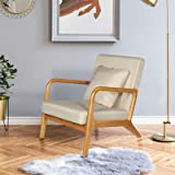 """ELUCHANG Mid-Century Modern Accent Chairs, 25.6"""" x 30"""" x 30"""",Fabric Reading Armchair,Accent Chairs for Living Room Bedroom,Ea"""