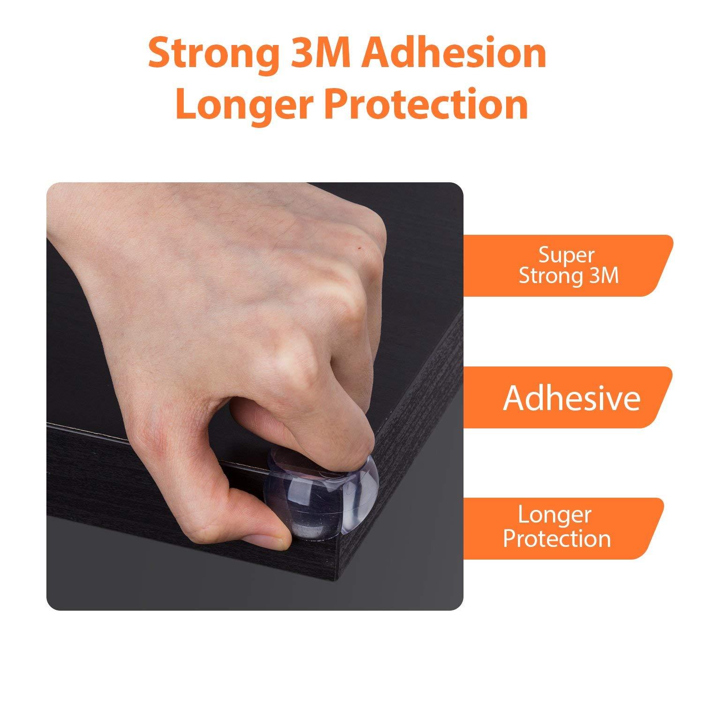Protege Coin B/éb/é,12 Pcs Protection Angles B/éb/é Transparent Pour S/écurit/é B/éb/é Protection Angle Rond Pour B/éb/é et Enfant avec Adh/ésif R/ésistant