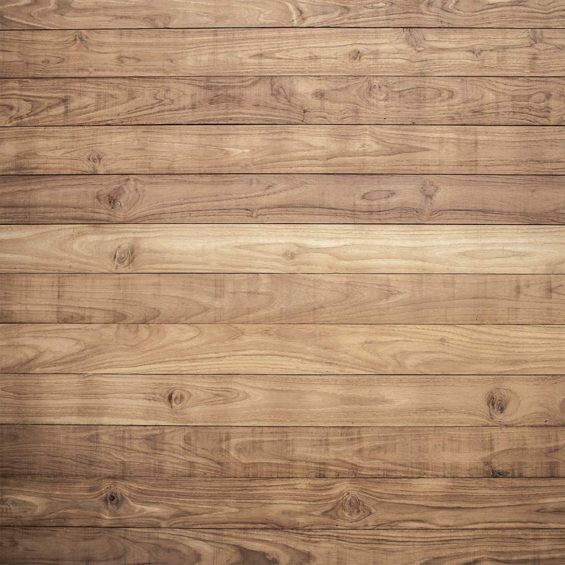 LYWYGG 10x10ft Wooden Backdrop Baby Shower Backdrops Party Decorations Backdrops Props for Studio for Photographers Retro Wood Wall Background Cloth Seamless CP-176-1010