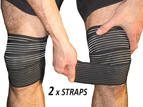Buy Armstrong Amerika Knee Pain Relief Straps Support Wraps Gym Squat Lifting Knee Brace Velcro Compression Sleeve Reduce Rheumatoid Arthritis Joint Inflammation Swelling Knee Replacement Large Online At Low Prices In