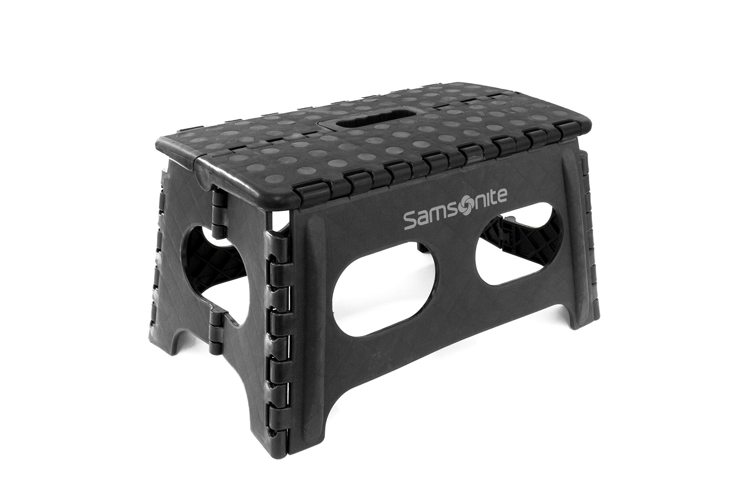 Samsonite Heavy Duty Step Stool in Black - (9'' Extra Wide)