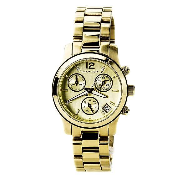 Michael Kors Michaël Kors - Reloj analógico de cuarzo para mujer con correa de acero inoxidable
