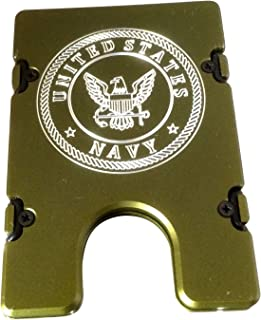 product image for HMC Billet United States Navy RFID Protection Credit Card Holder Aluminum Wallet, Green