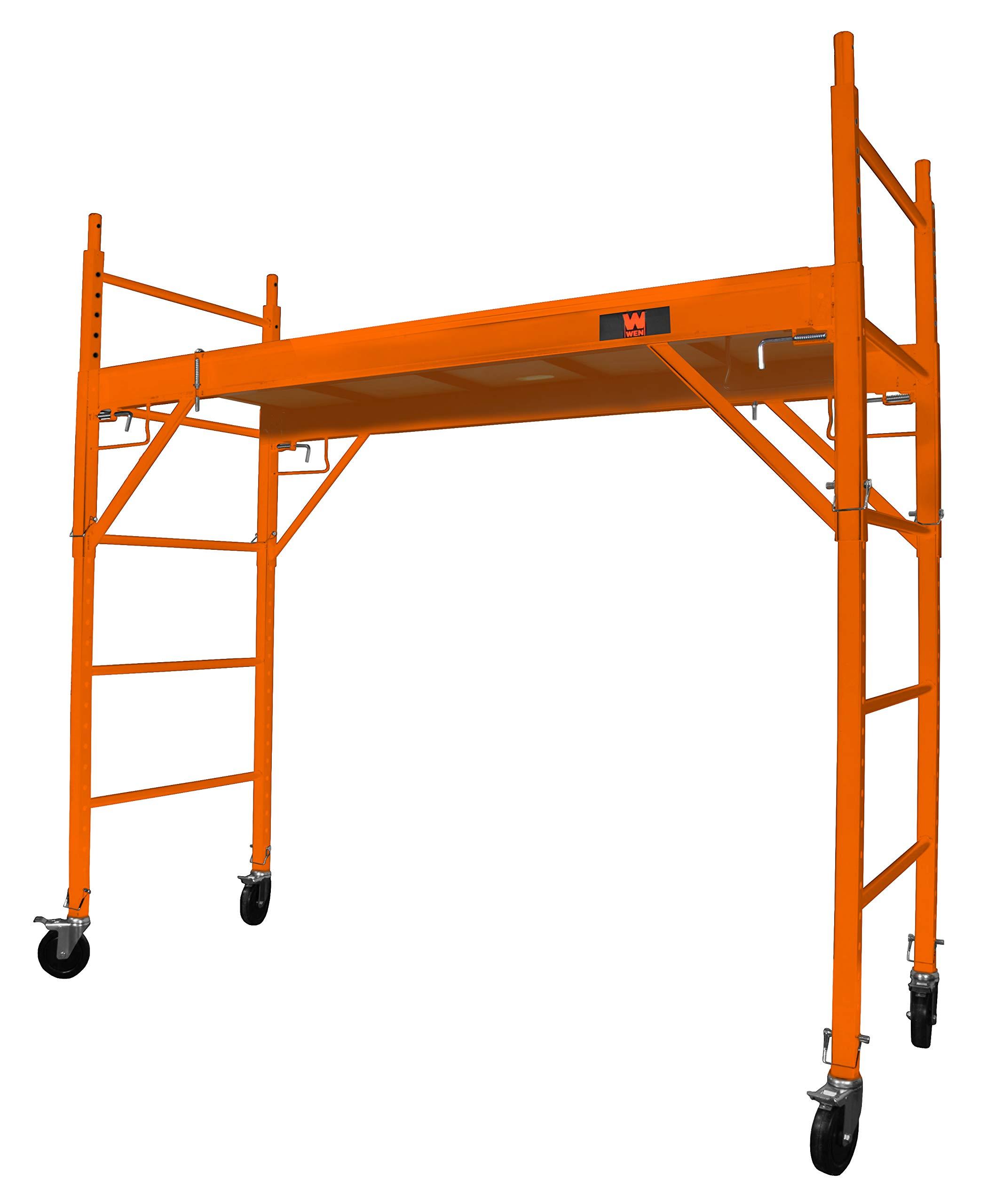 WEN 31110 Baker-Style 6.25 ft. Multi-Purpose 1000-Pound-Capacity Rolling Steel Scaffolding by WEN