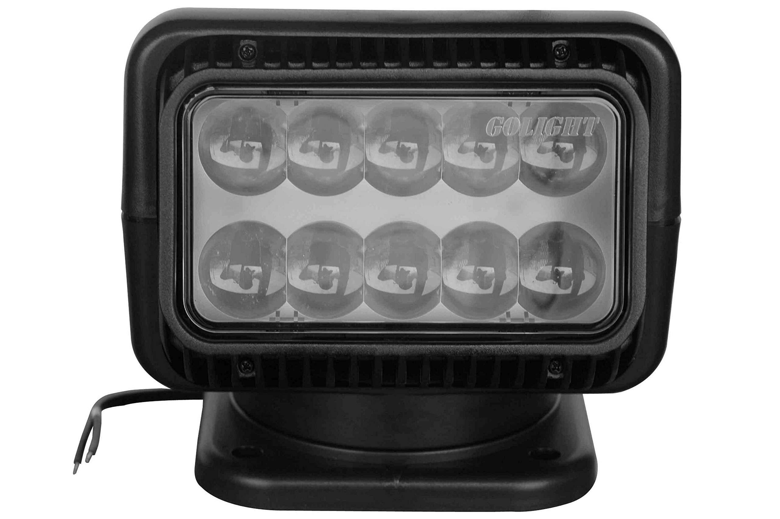 20514 Golight Dual Wireless Remote, LED Spotlight - 900' Beam - Black - Perm Base - 2520 Lumen by Larson Electronics