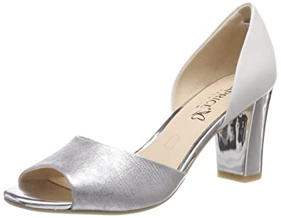 Caprice Damen Pumps, Weiß (White Multi 103), 38.5 EU