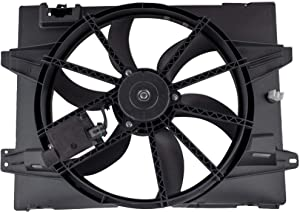 MYSMOT 621-353 Radiator Cooling Fan Assembly For 2005-2011 Lincoln Town Car / 2006-2011 Mercury Grand Marquis / 2006-2011 Ford Crown Victoria (4.6L V8 Models ONLY), 6W1Z8C607A, 621380CU