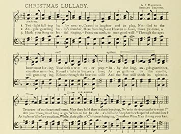 Christmas Lullaby.Amazon Com Christmas Lullaby Christmas In Song 1891 Poster
